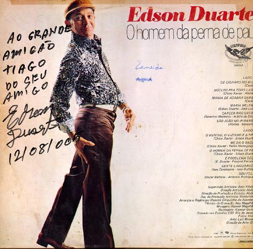 Edson Duarte Homem Da Perna De Pau Capa Verso