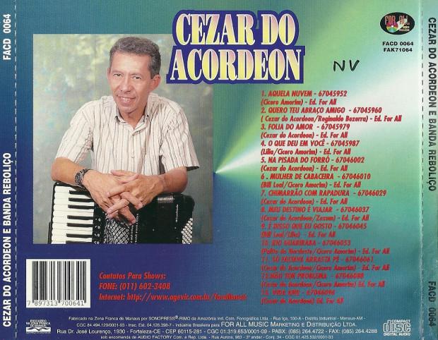 1997 - Cézar do Acordeom - verso