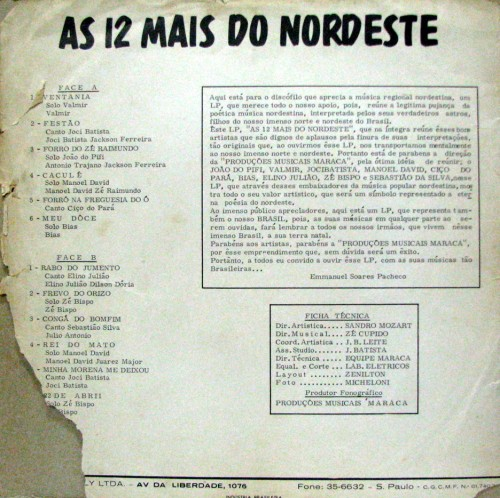 as-12-mais-do-nordeste-verso
