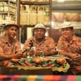 Os Alegres do Nordeste. Palito, Zé Bódinho e Borrego. Fotos tiradas no restaurante Canto Madalena