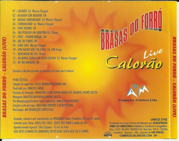 cd brasas do forro antigo