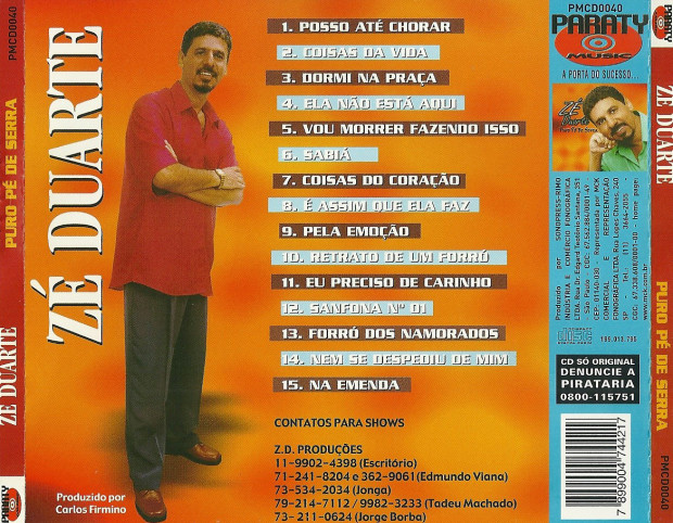 Ze Duarte 2001 - verso