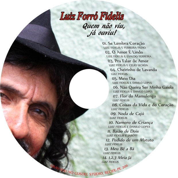 Label CD - Luiz Forro Fidelis