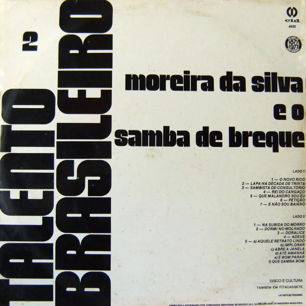 Samba de Breque - verso