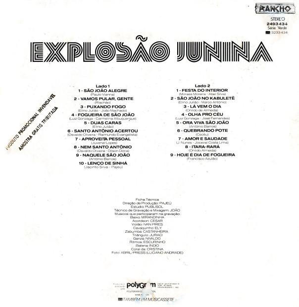 Verso - Explosão junina