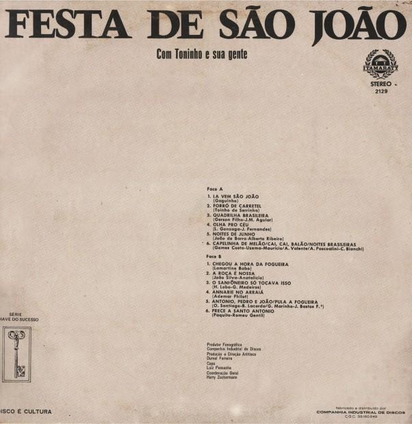 Verso - Festa de Sao Joao