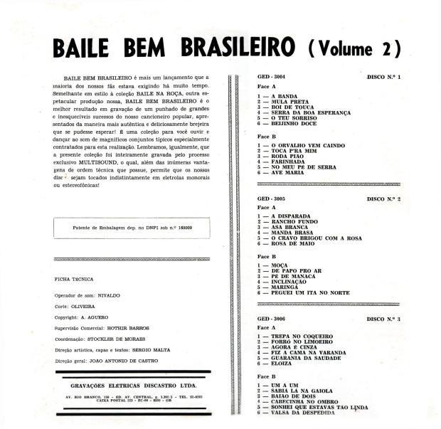 Baile bem brasileiro_Lista