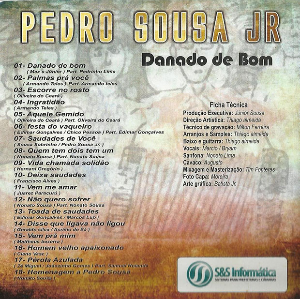 Capa CD Pedro Sousa Junior - verso p