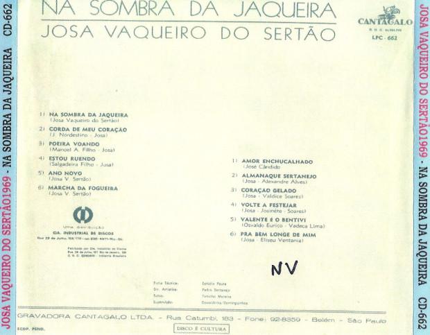 Na Sombra da Jaqueira - verso cd