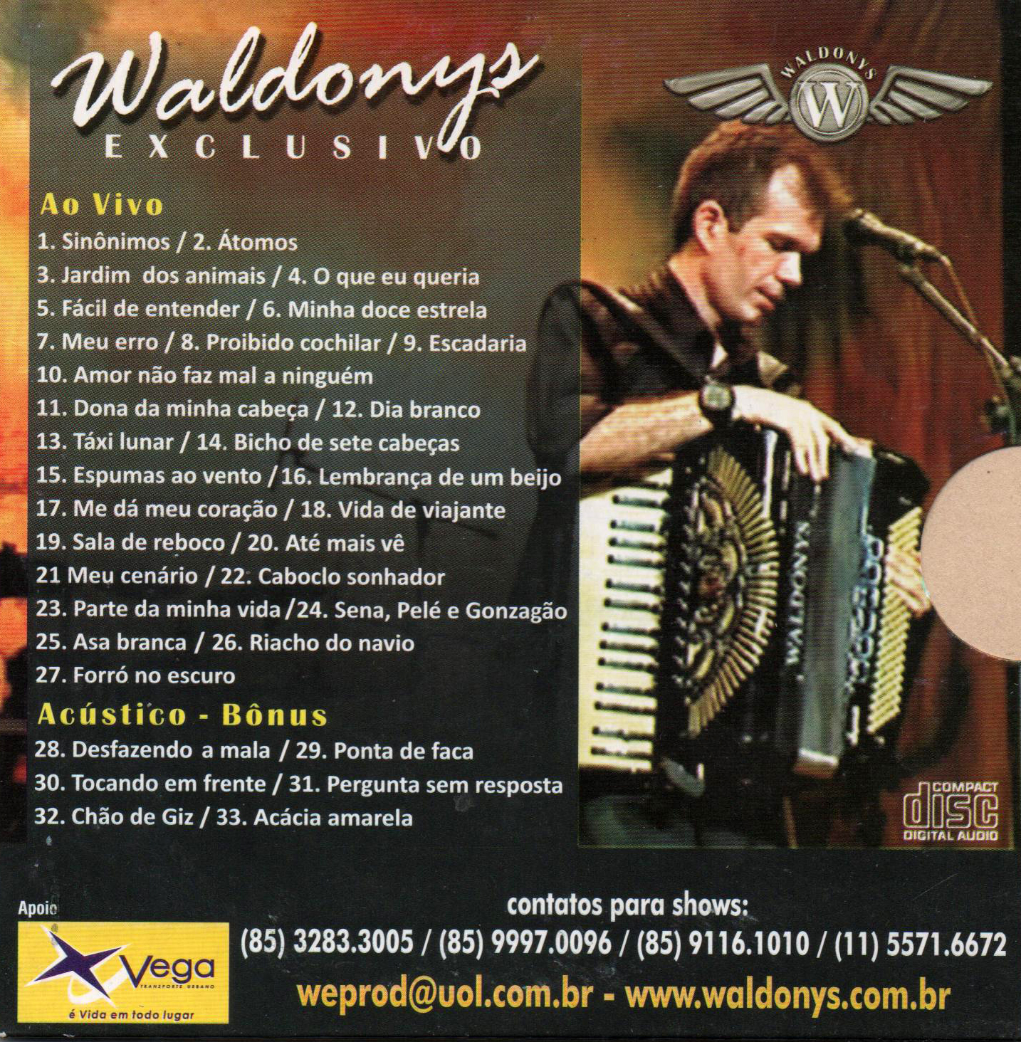 cd de waldonys ao vivo