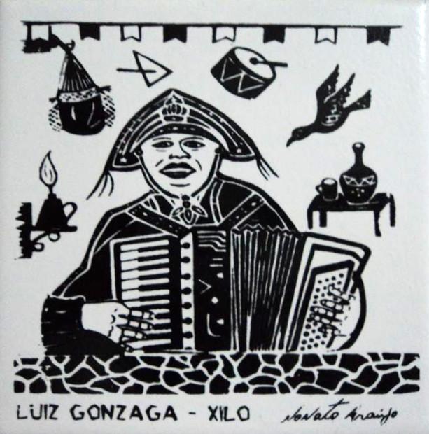 Gonzagão - xilogravura de Nonato Araújo