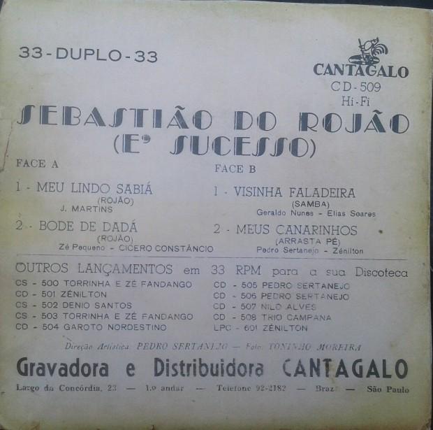 Sebastião do Rojão - É Sucesso contra capa
