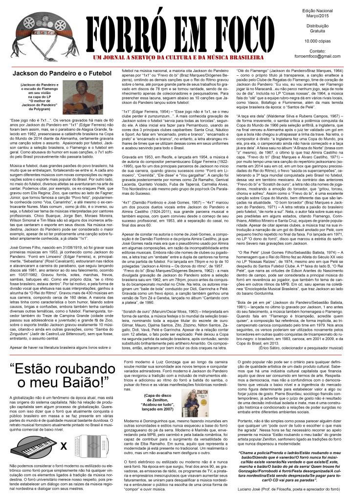Jornal Forró em Foco - frente - mar2015