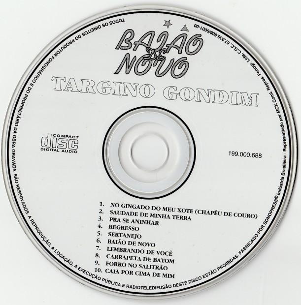 Targino Gondim - Baião Novo - CD