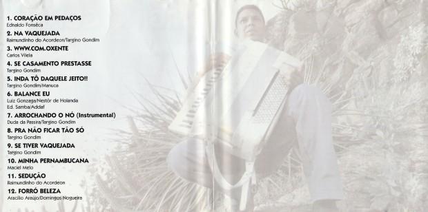 Targino Gondim - Inda tô daquele jeito - encarte