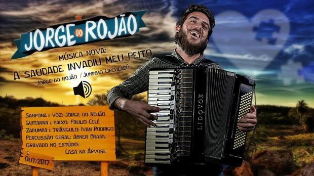 Jorge do Rojão - A saudade invadiu meu peito - Folder